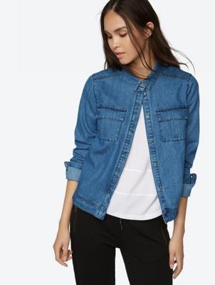 Leichte Jeansjacke mit Brusttaschen
