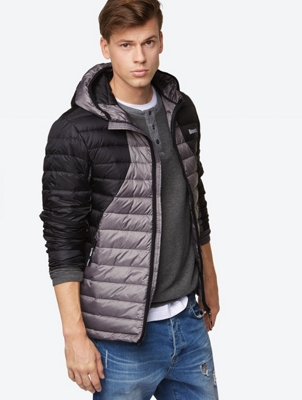 Down Jacket with Storage Bag