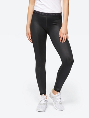 Lightly Coated Leggings with Elasticated Waistband