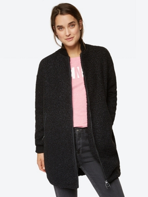 Jacket with Bouclé Look