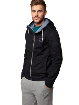 Light Cotton Jacket with Standing Collar