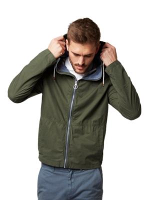 Leichte Baumwoll-Jacke mit Stehkragen