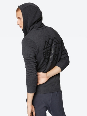 Melange Look Hoodie Ensnare with Stand-up Collar