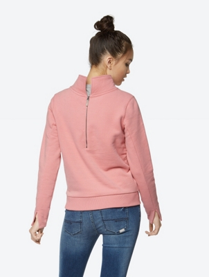 Modern Sweatshirt with Stand-up Collar