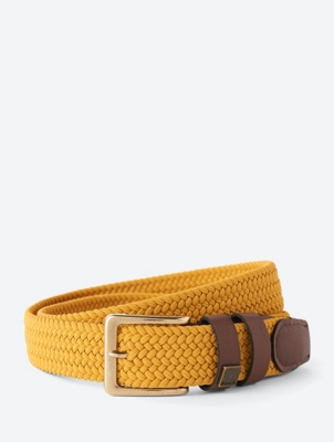 Stretchy Belt Simple with Braided Design