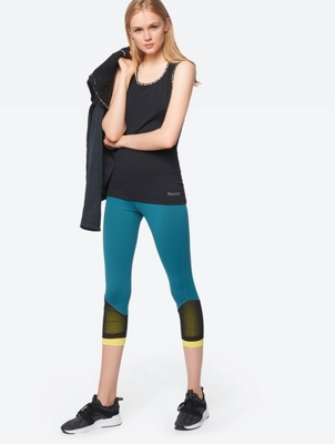 Leggings with Mesh Trim