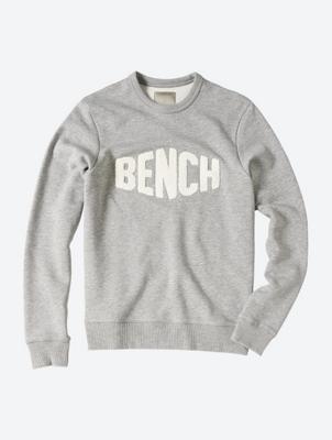 Crew Neck Sweater with Texture Logo Print