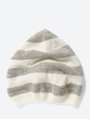 Fine Knit Striped Beanie