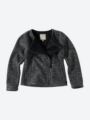 Strick-Blazer mit Fleece-Innenseite