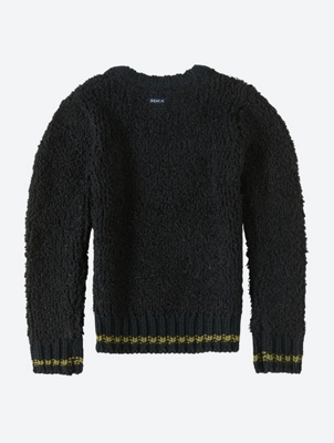 Plain Jumper with Colour-Contrasting Cuffs