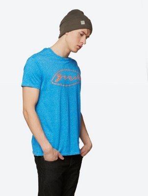Marl T-Shirt Form with Graphic Logo Print
