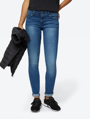 Slim-Fit-Jeans in Used-Waschung