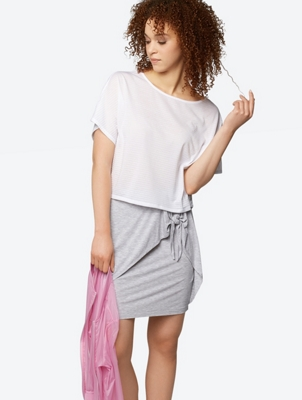 Slim Cut Skirt with Knot Detail