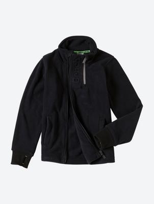 Fleece Jacket with Double Zip on the Collar
