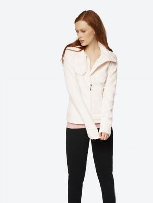 Fleece Jacket with Wide Standing Collar