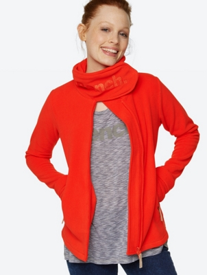 Heritage Fleece Jacket Funnel Neck with Stand-Up Collar