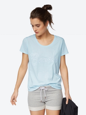 Fine Marl T-Shirt with Embroidered Logo
