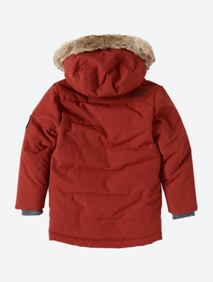 Quilted Parka Jacket with Removable Woven Fur Trim