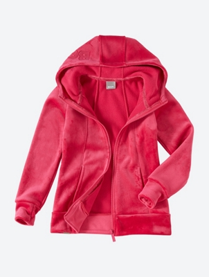 GIRLS HER. FLEECE HOODY
