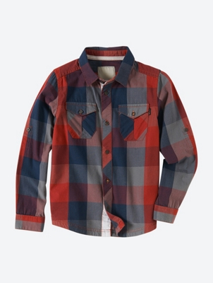 Checked Shirt with Kent Collar