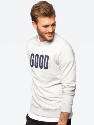Printed Sweatshirt with Embroidery