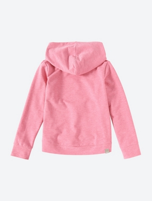 Melange Hooded Sweatshirt with Sequin Motif
