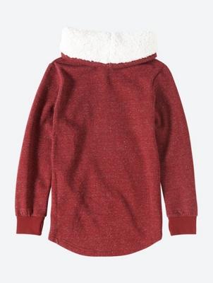 Meliertes Sweatshirt mit Front-Print