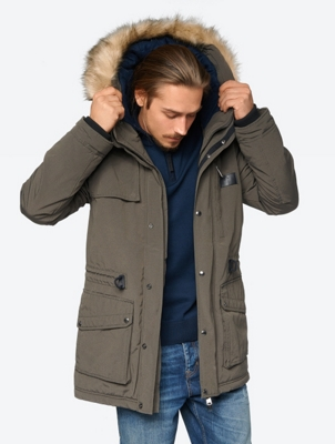 Lined Jacket with Removable Woven Fur