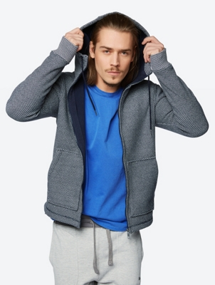 Two-Tone Bonded Fleece Hoodie Highnote