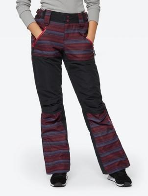 Patterned Ski Pants with Waterproof Properties
