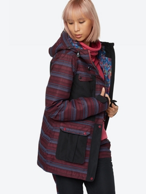 Patterned Ski Jacket with Waterproof Function