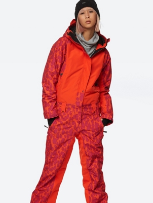 Patterned Ski Suit with Waterproof Function