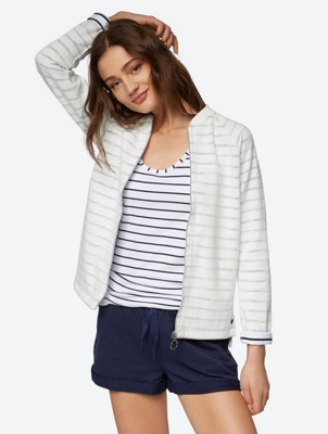Striped Jacket in Inside-Out Look