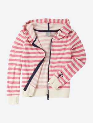 Striped Sweat Jacket with Hood