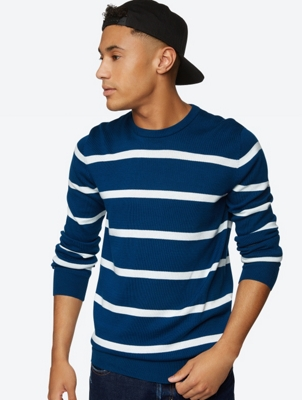 Fine Knit Jumper Oeuvre with Stripes