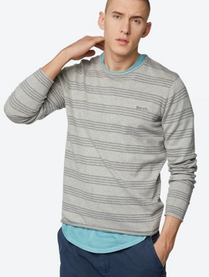 Striped Jumper Adour with Rolled Hems