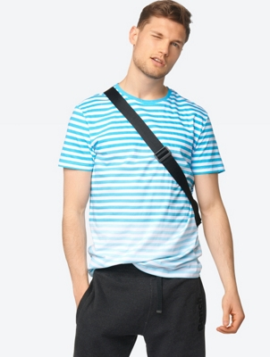 Gradient Striped T-shirt Pontapreta