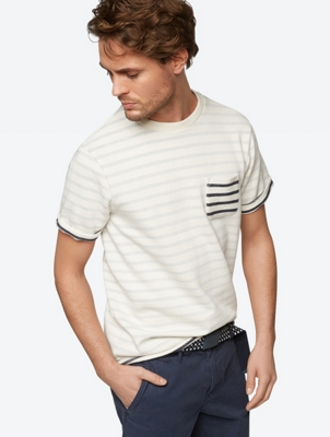 Striped T-Shirt in Sweater Fabric