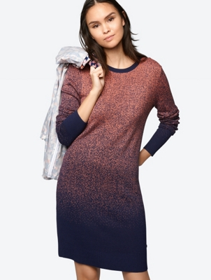 Knitted Dress with Colour Gradient