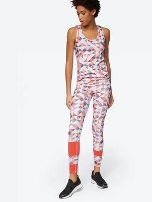 Patterned Leggings with Mesh Panels