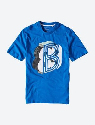 Lässiges T-Shirt mit Bench-Print auf der Front