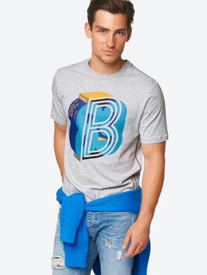 Casual T-Shirt with Brand Print on the Front