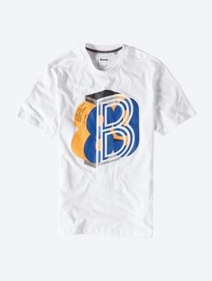 Lässiges T-Shirt mit Marken-Print auf der Front
