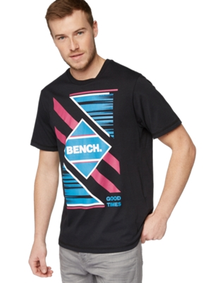 T-Shirt with Large Brand Print on the Front