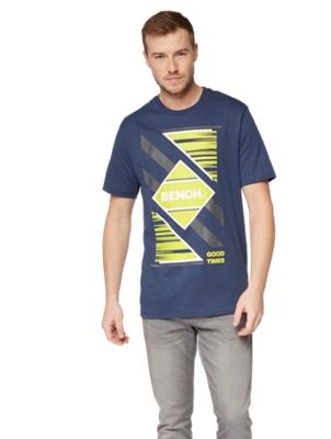 T-Shirt mit großem Marken-Print auf der Vorderseite