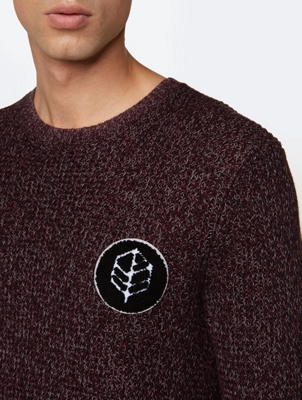 Chunky Knit Jumper with Terry Badge