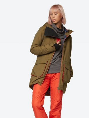 Windproof Ski Jacket in a Parka Look