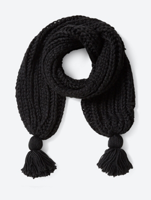 Chunky Knit Scarf with Bobbles