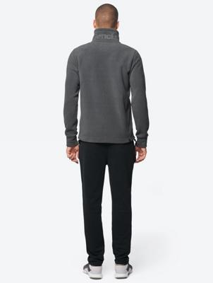 Fleece Jacket with Bench Logo on Standing Collar
