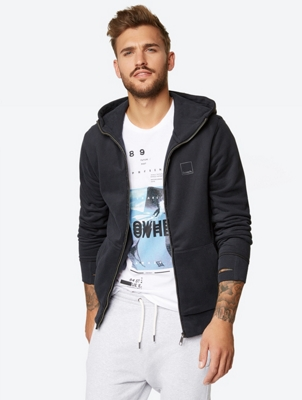 Sweat Jacket with Piped Hood